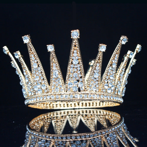 King & Queen Zirconia Rhinestone Silver/Gold Prom, Wedding Crown