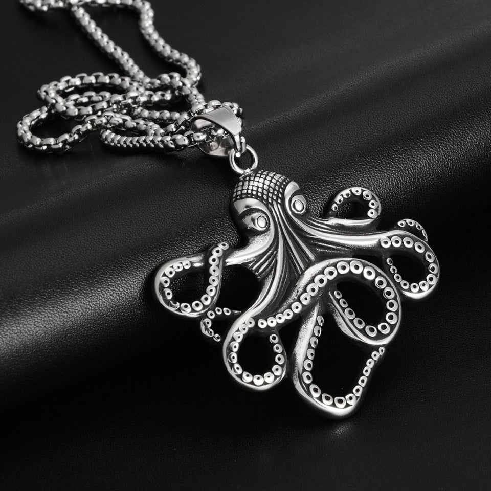 Octopus Pendant Necklace Stainless Steel Jewelry