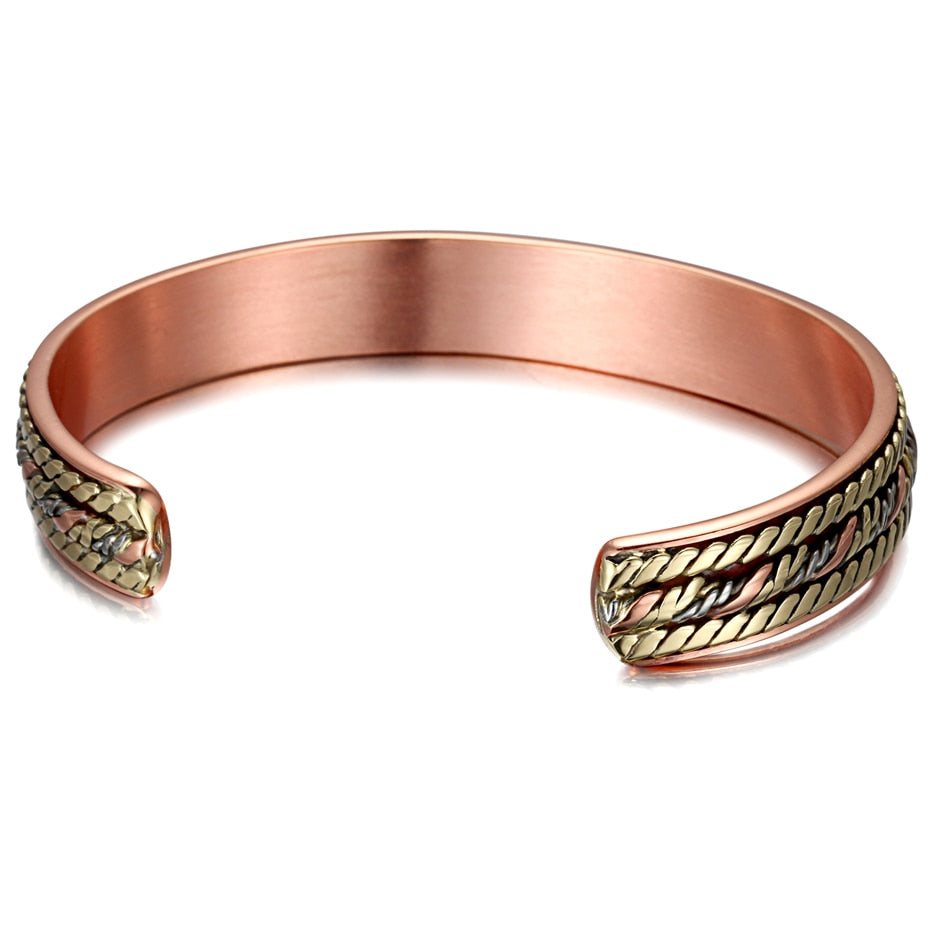 Vintage Copper Colored Magnetic Bangle for Women