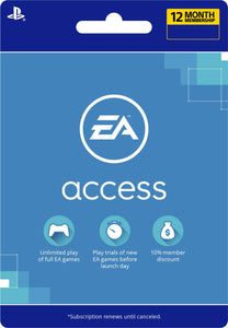 EA Access 12 Month Subscription - [PS4 Digital Code]