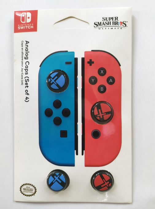 HORI Nintendo Switch Analog Caps (Super Smash Bros Edition) Set of Four Officially Licensed By Nintendo - Nintendo Switch