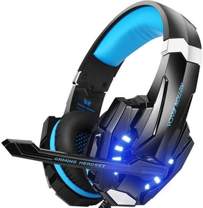 Kotion Each G9000 Stereo Gaming Headset for PS4, PC, Xbox One Controller, Noise Cancelling Over Ear Headphones with Mic