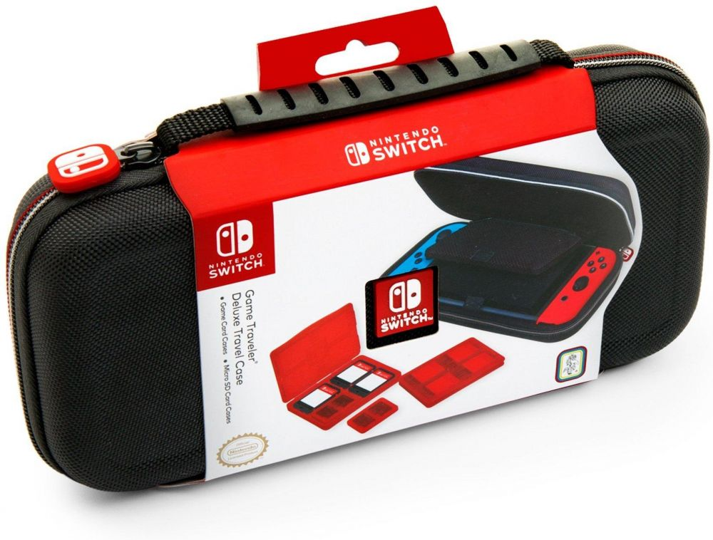 NINTENDO SWITCH DELUXE TRAVEL CASE - PREMIUM HARD CASE MADE WITH BALLISTIC NYLON, SECURE TIGHT FIT FOR YOUR SWITCH AND GAMES