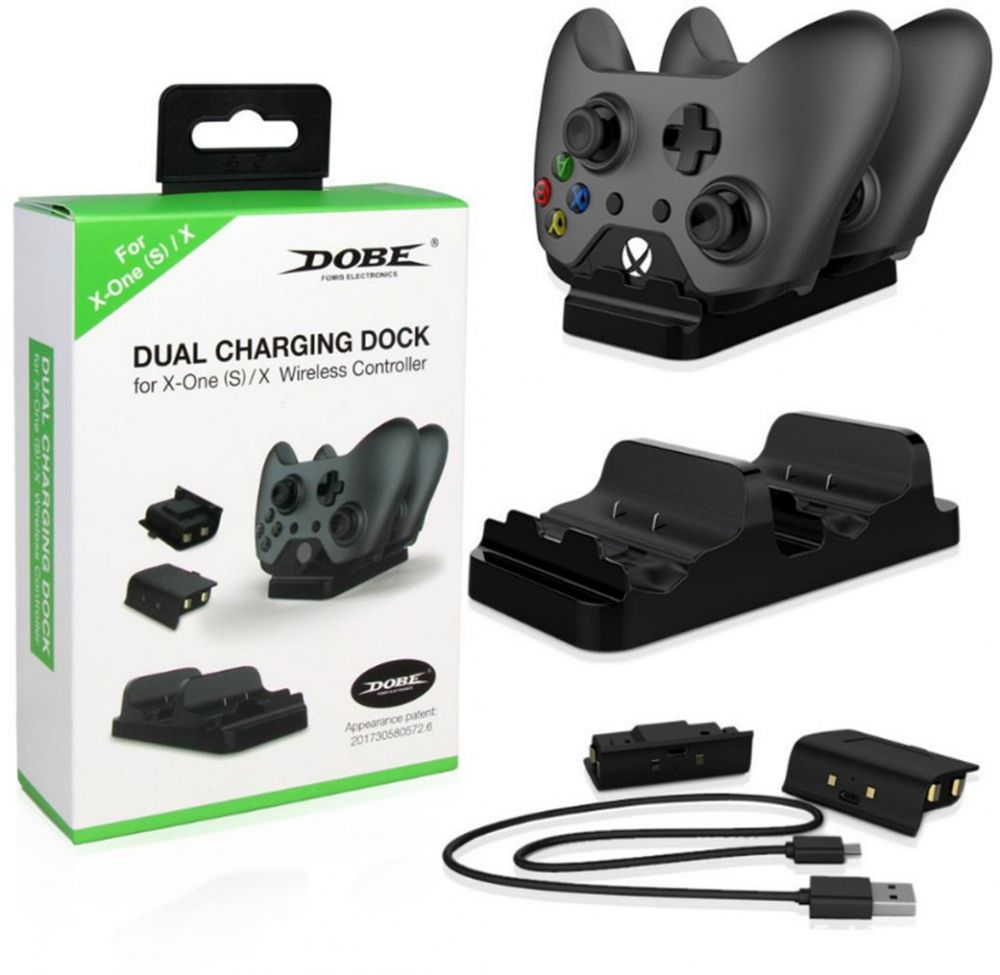 XBOX ONE X Dual Battery Charging Kit XBOX ONE SLIM Battery ONE Handle Dual Charging