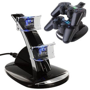 Quick Dual charging stand with USB LED sock station charging stand for PS4 controller