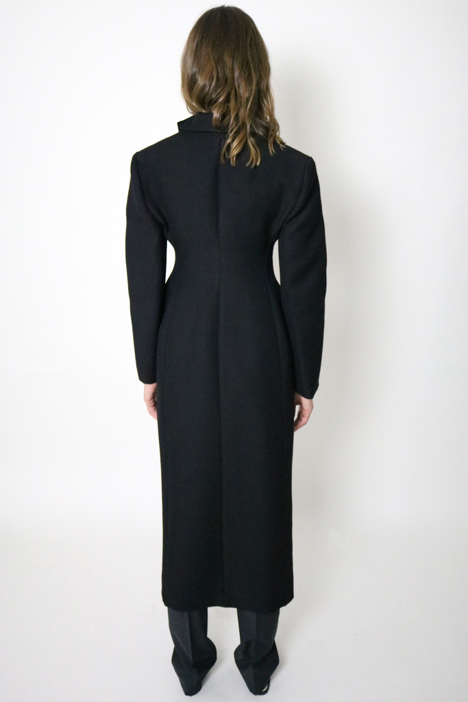 PRE-ORDER AW/18 Tailored Long Coat with sculptured hip line