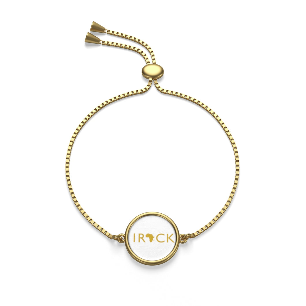 I Rock Africa Box Chain Bracelet (Gold and White)