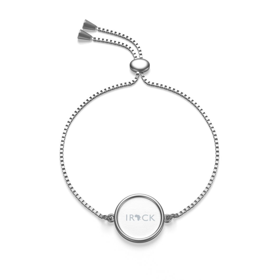 I Rock Africa Box Chain Bracelet (Silver and White)