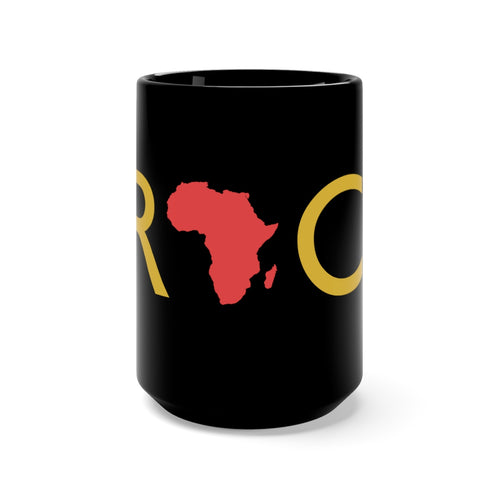 I Rock Africa Black Mug 15oz