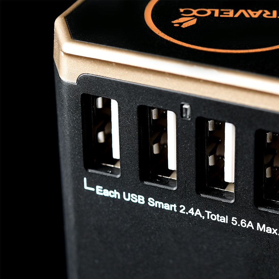 4+1 USB WORLDWIDE ADAPTOR