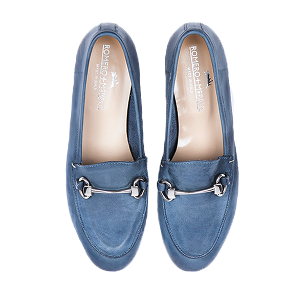 Portofino Mirtillo Women Italian Loafers Women by Romero McPaul