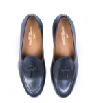 BELGIAN LOAFER NAVY Leather Shoes by Romero McPaul