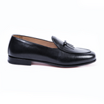 BELGIAN LOAFER BLACK Leather Shoes by Romero McPaul