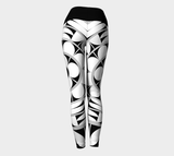 Povi Kaa (Flower Leaf) White Yoga Leggings