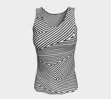 P'okanu (Sky Trail) Women's Long Fitted Tank Top
