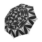 Povi Kaa (Flower Leaf) Black Semi-Automatic Foldable Umbrella