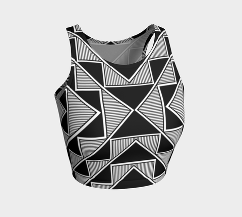 Okhuwa Sawin (Terraced Cloud) Athletic Crop Top