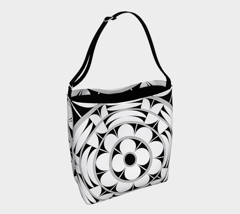 Povi Kaa (Flower Leaf) White Tote Bag