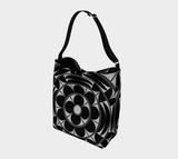 Povi Kaa (Flower Leaf) Black Tote Bag
