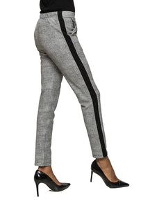 Grey Lateral Stripe Pant