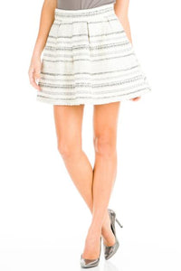 Gray Striped Mini Skirt