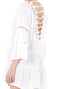 White Linen Detailed Tunic
