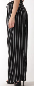 Striped Wide Leg Trouser
