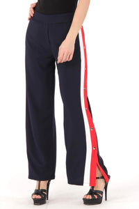 Navy & Red Snap Pant