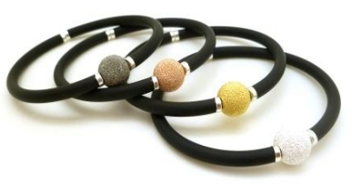 Rubber and Crystal Bangle
