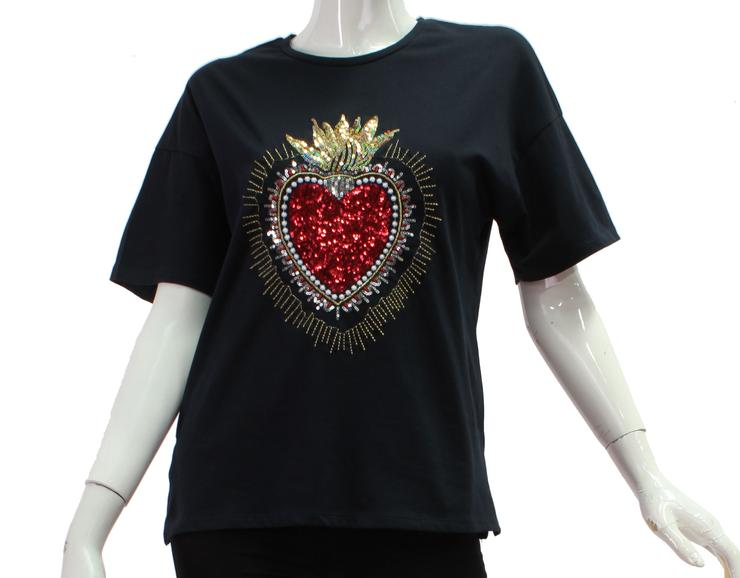 Sequin Heart Tee