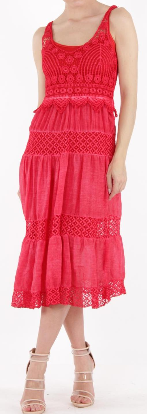 Sleeveless Crochet Midi Dress