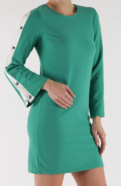 Snap Bell Sleeve Dress