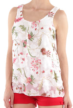 White Sleeveless Floral Top