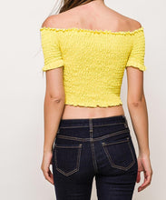 Ruched Lace-Up Off-The-Shoulder Crop Top