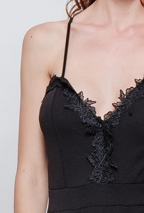 Lace Trim Strappy Jumpsuit