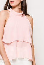 Tiered Sleeveless Blouse