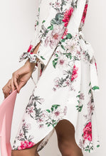 White Off-The-Shoulder Floral Dress