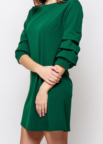 Ruffled Puff Sleeve Dress