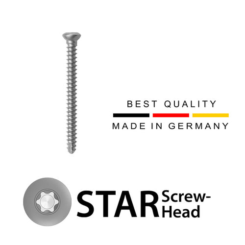 2.4 Cortical Screw (Non-Locking) Stainless Steel