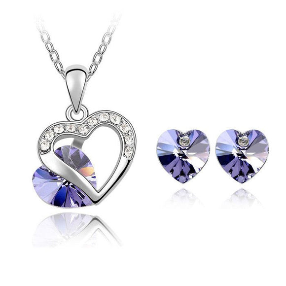 Purple Summer Heart - Joyas Por Amor