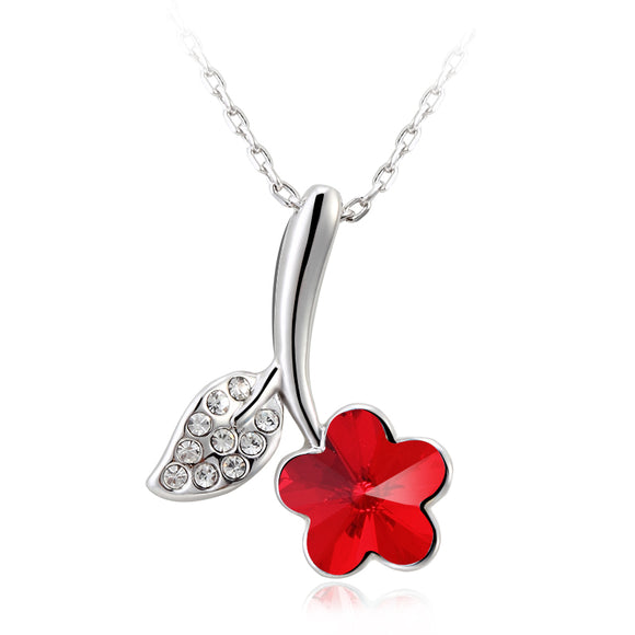 Shine Red Flower - Joyas Por Amor
