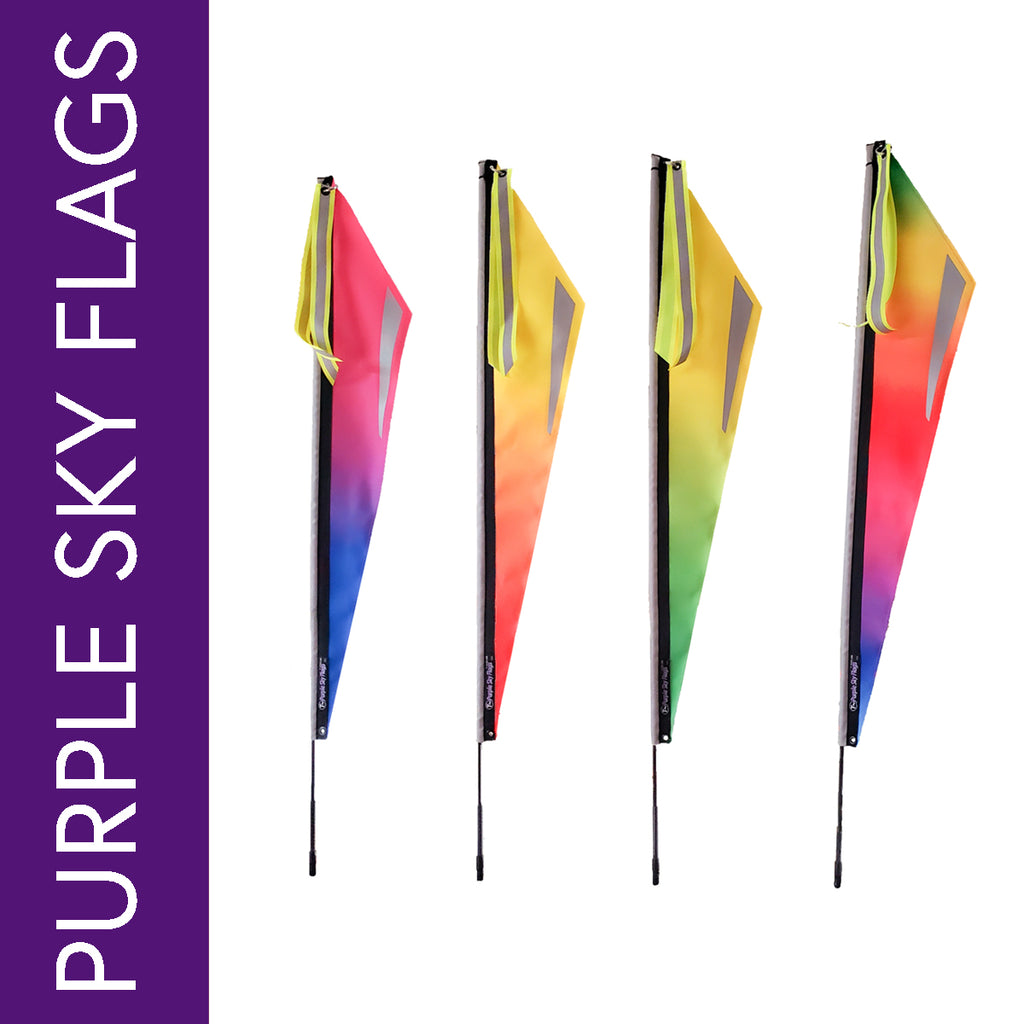 Purple Sky Flags