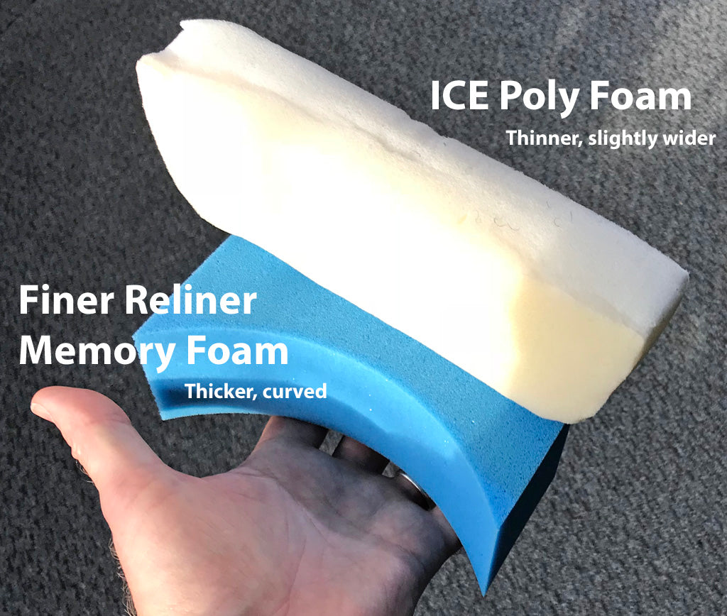 Foam comparison, stock ICE to Finer Recliner