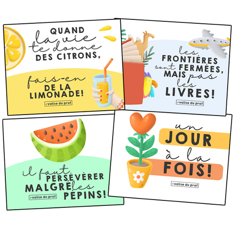 4 affiches positives