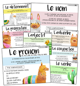 8 affiches - Classes de mots