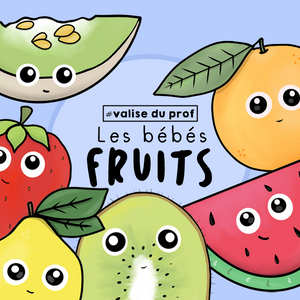 21 Cliparts - Les bébés fruits