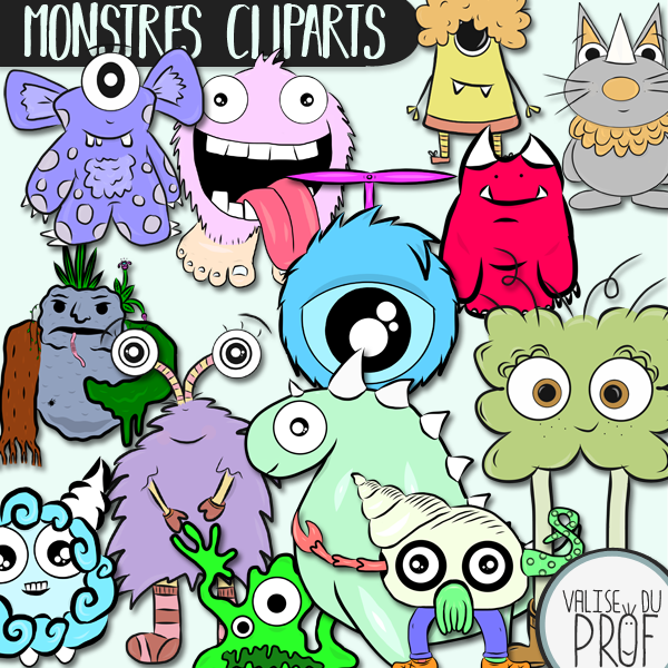13 Monstres cliparts-monsters