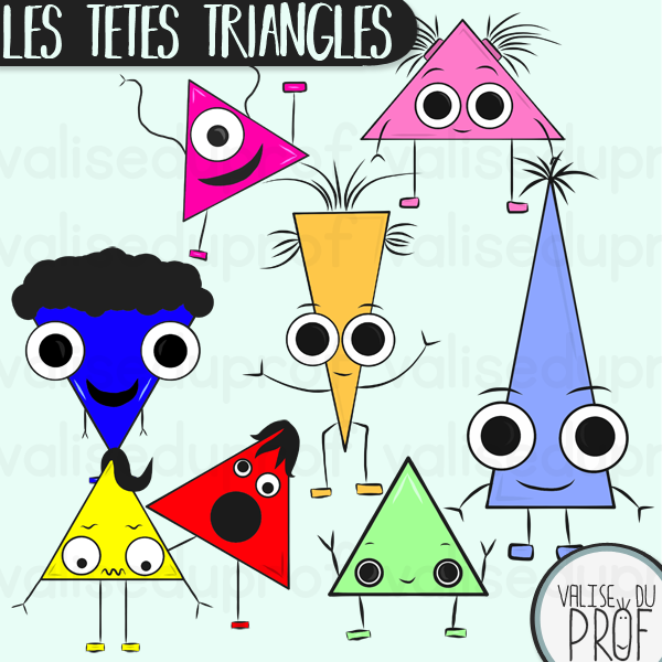 Cliparts Les têtes triangles