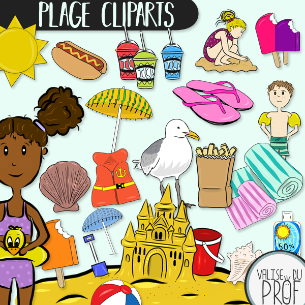Cliparts plage