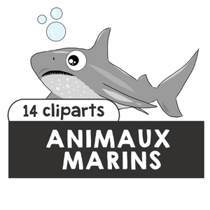 Animaux marins / marine animals cliparts